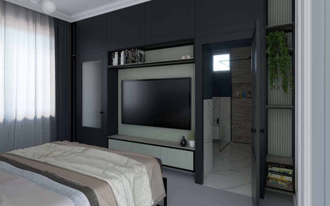Godzikowice // Sypialnia z łazienką i garderobą